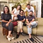 Kiara Franco, Kaio Franco e os arquitetos Nariel Araujo, Rodrigo Ferreira e Eduardo Medeiros- foto Silvio Simões - 0088